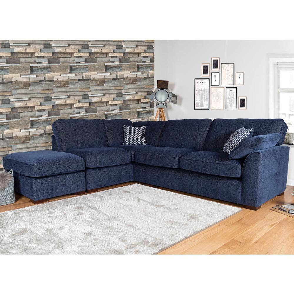 Lorna Navy Fabric Corner Sofa Left Facing Costco Uk In 2020 Corner Sofa Corner Sofa Living Room Navy Living Rooms