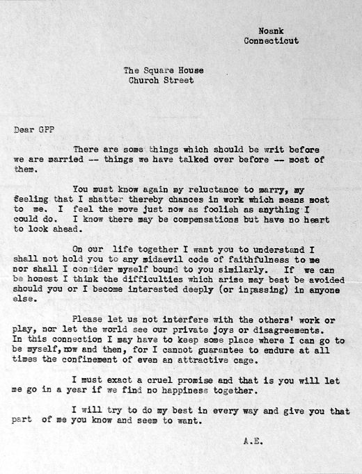 Amelia Earhart S Letter To Her Fiancé George Putnam On The Morning Of Their Wedding Day Gurl