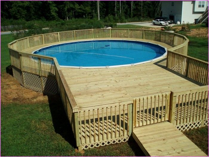 to make it look eye catching ideas like above ground pool deck kits can be - Above Ground Pool Floating Deck