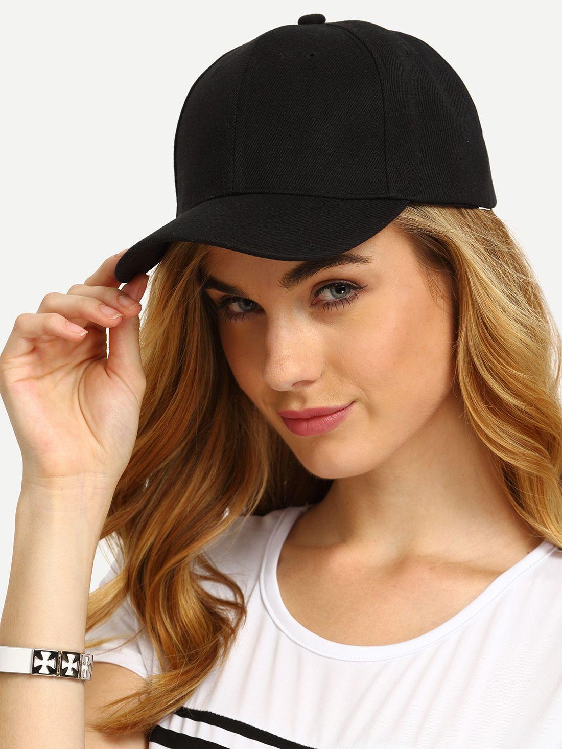 e726509bb3 Shop Black Simple Baseball Cap online. SheIn offers Black Simple Baseball  Cap