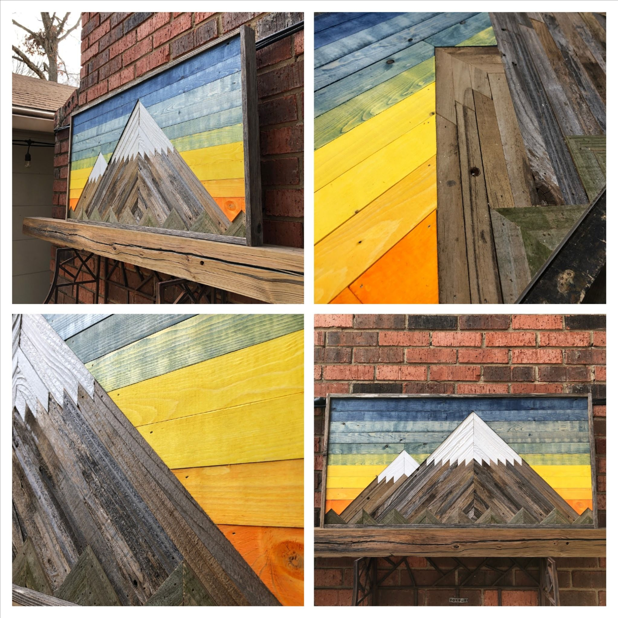 rustic mountain single piece mount rainier reclaimed on show me beautiful wall color id=67461