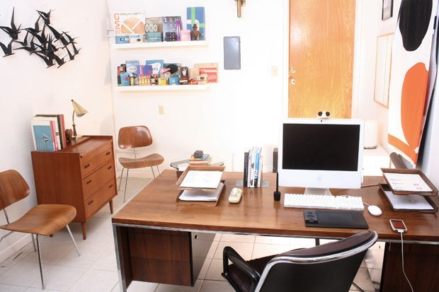 Super-clean, super-modern office of designer Javier Garcia.