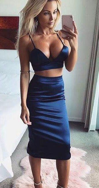 1e5dfbb46d9 Sexy Two Piece Royal Blue Black Burgundy Bright Yellow Prom Dress ...