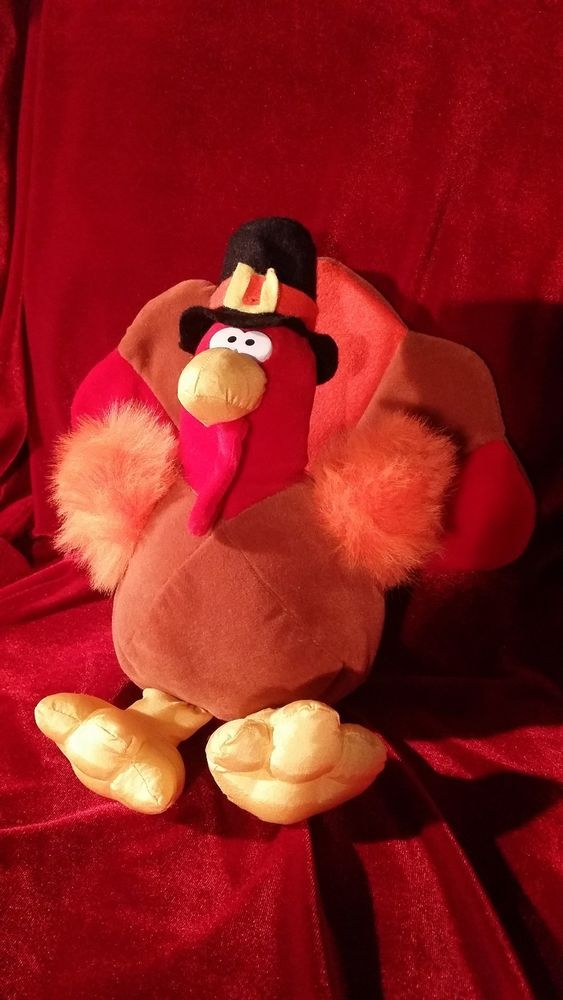 gibson greetings 1994 mr gobbles 10 tall turkey plush stuffed toy 3 gibsongreetings