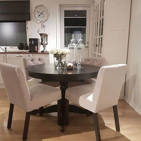ᒪOᑌIᔕE ♡ Small White Dining Table, Small Dining Table Apartment, Small  Dining Room