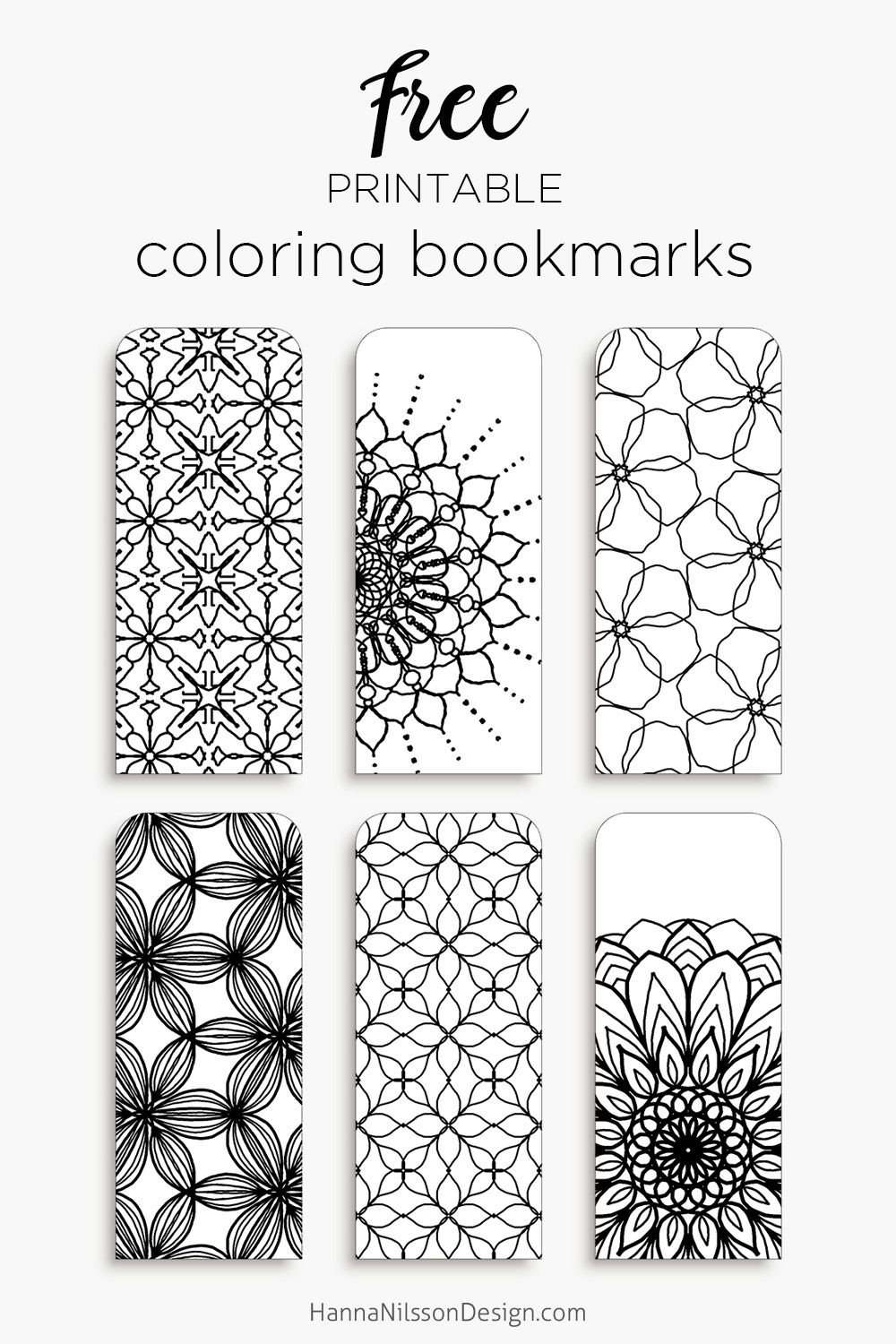 color your own bookmarks - free printable bookmarks for coloring