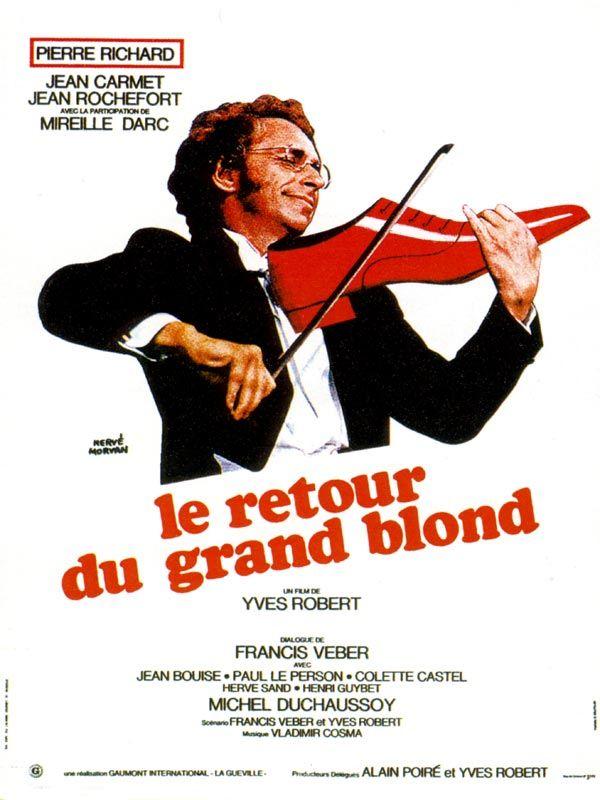 Affiche ancienne Film LE GRAND BLOND Pierre RICHARD Francis VEBER Hervé MORVAN