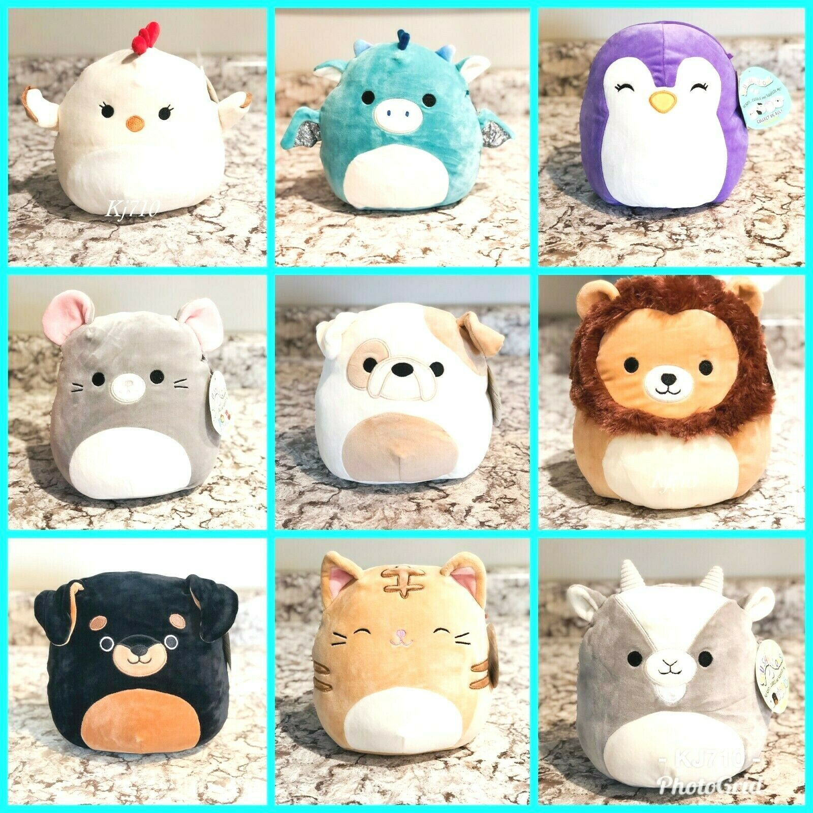 Sale Squishmallow 8 Chicken Dragon Cat Goat Dog Kellytoy Plush Pillow Animal Chicken Chicken Chic Sewing Stuffed Animals Cute Stuffed Animals Plush Animals