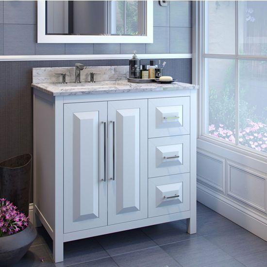 Featuring A Clean Leading Edge Design This 36 W Jeffrey Alexander Cade Contempo Vanitybathroom