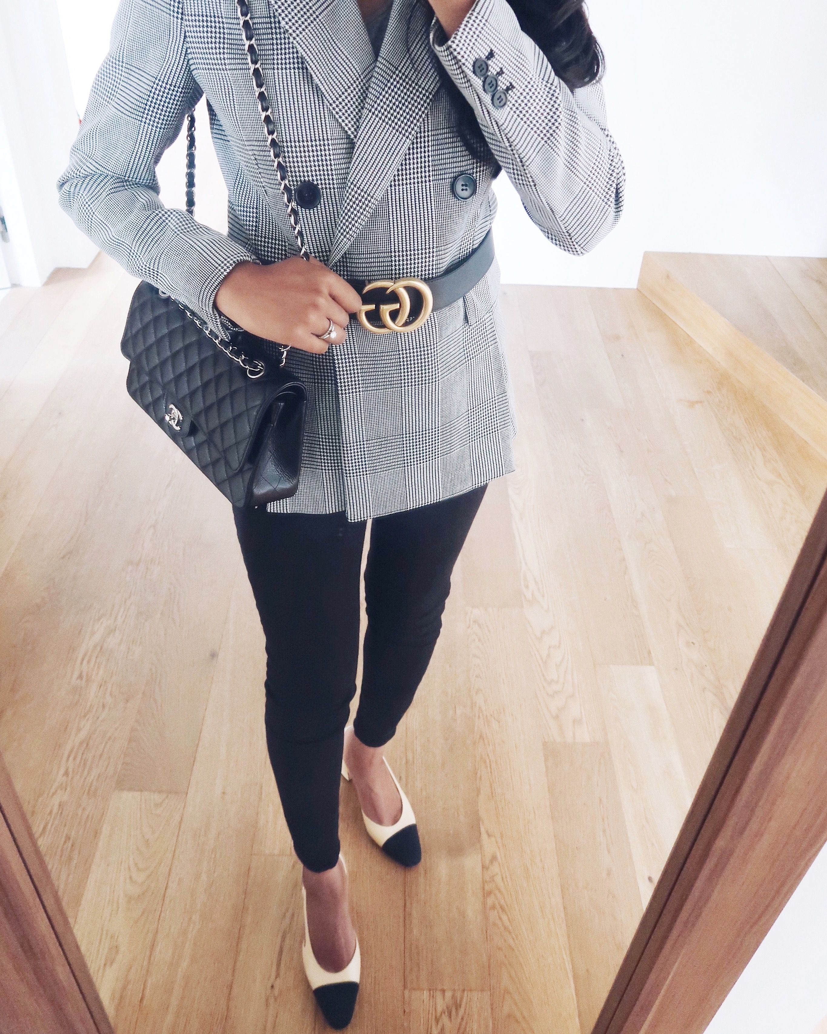 ee8734d48 Smart casual outfit with Gucci GG Belt and Chanel.   INSPIRE ...