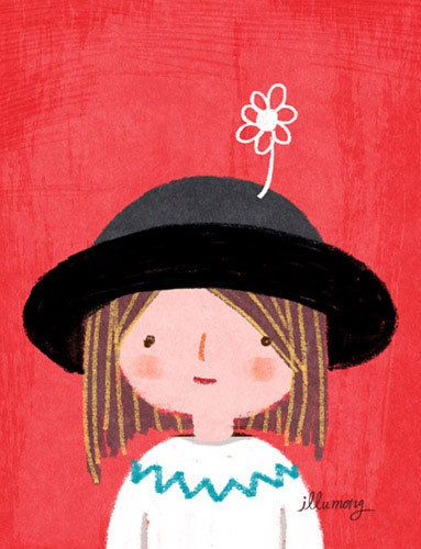 cute girl illustrator illumong