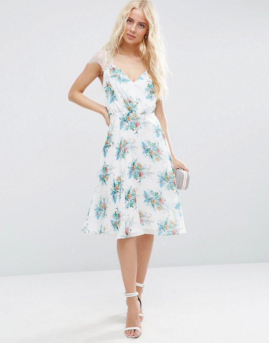 9da9219c929 ASOS Kate Lace Midi Dress In White Floral