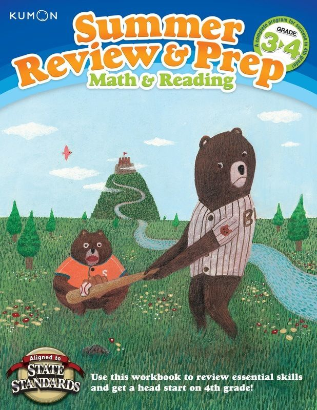 Kumon Publishing Kumon Publishing Summer Review And Prep 3 4 Summer Review Reading Prep Workbook