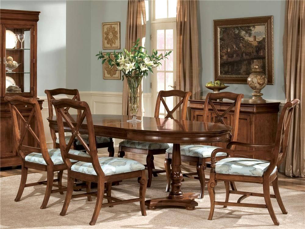 Delshire Seven Piece Dining Set By Drexel Heritage Oval Table
