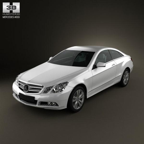 Mercedes-Benz E-Class Coupe 2011 3D Model #AD ,#Class#Benz