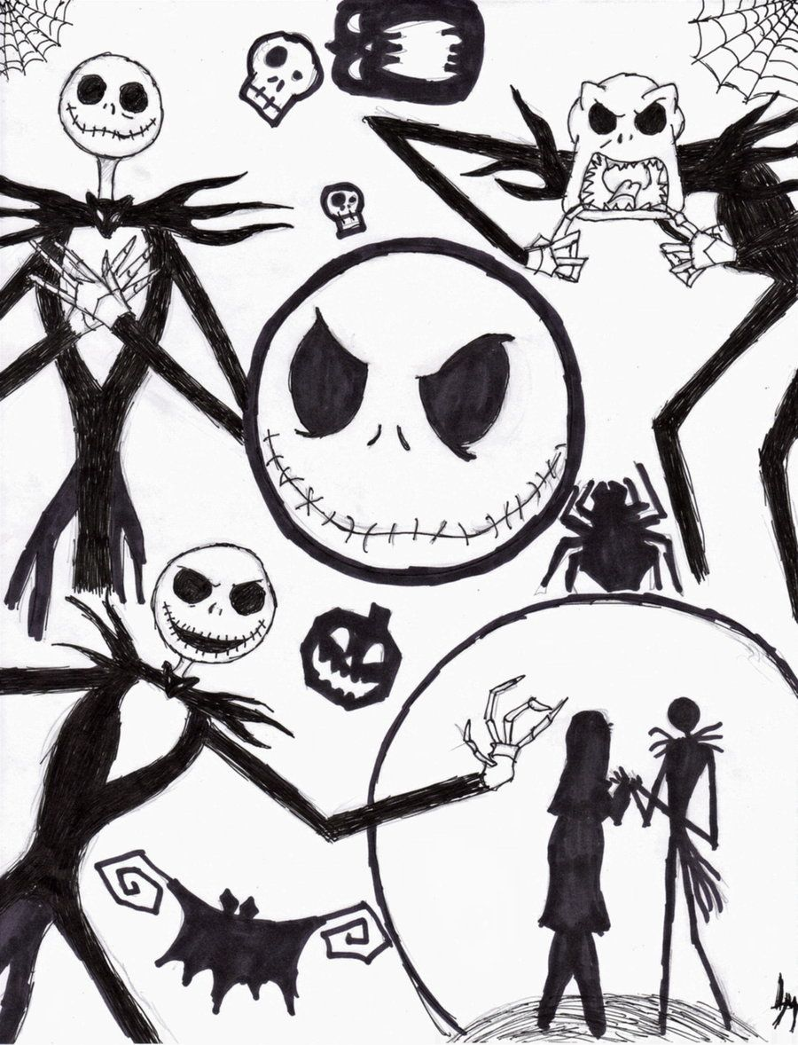 nightmare before christmas COLORING PAGES! | Halloween Decor and ...