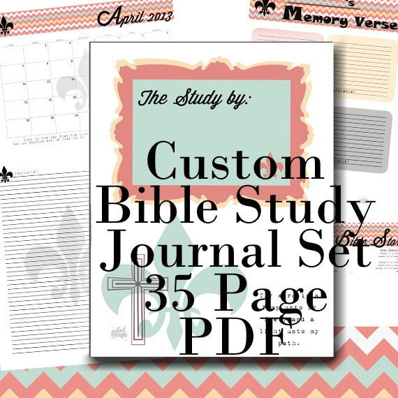custom bible study notes and prayer journal and references 35 pdf printables chevron theme 2800 via etsy awesome to keep all of your study things in