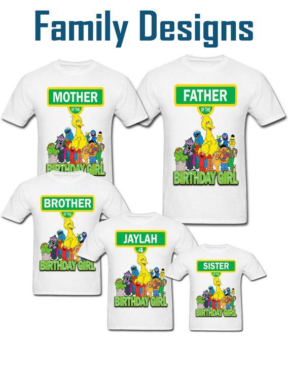 Personalizada camiseta de cumpleaños de calle del sésamo para | Bebé ...