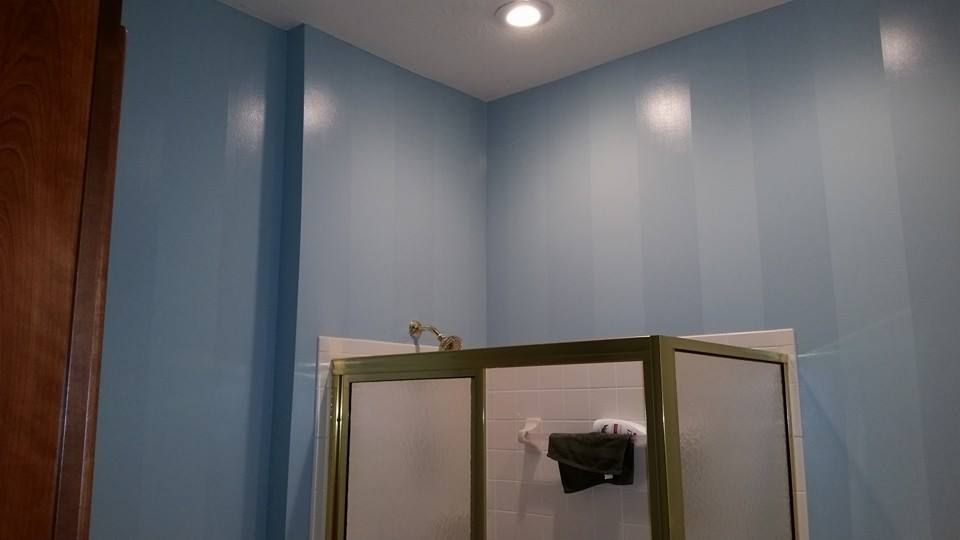Custom painted wall stripes vertical or horizontal stripes