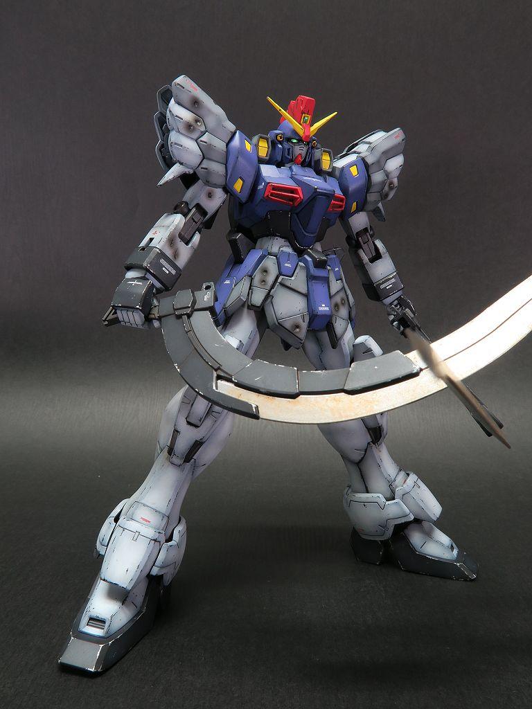Painted Build Mg 1 100 Gundam Sandrock Custom Ew Gundam Gundam Model Mobile Suit Gundam Wing
