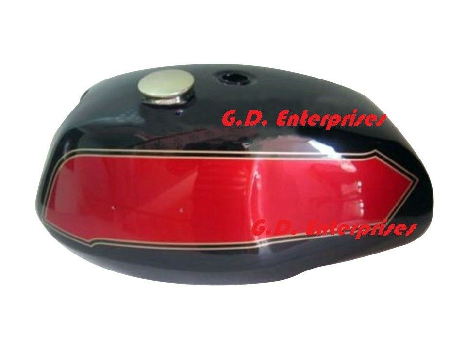 TAP BRAND NEW TRIUMPH T140 BLACK PAINTED FUEL TANK  WITH FREE BRASS CAP