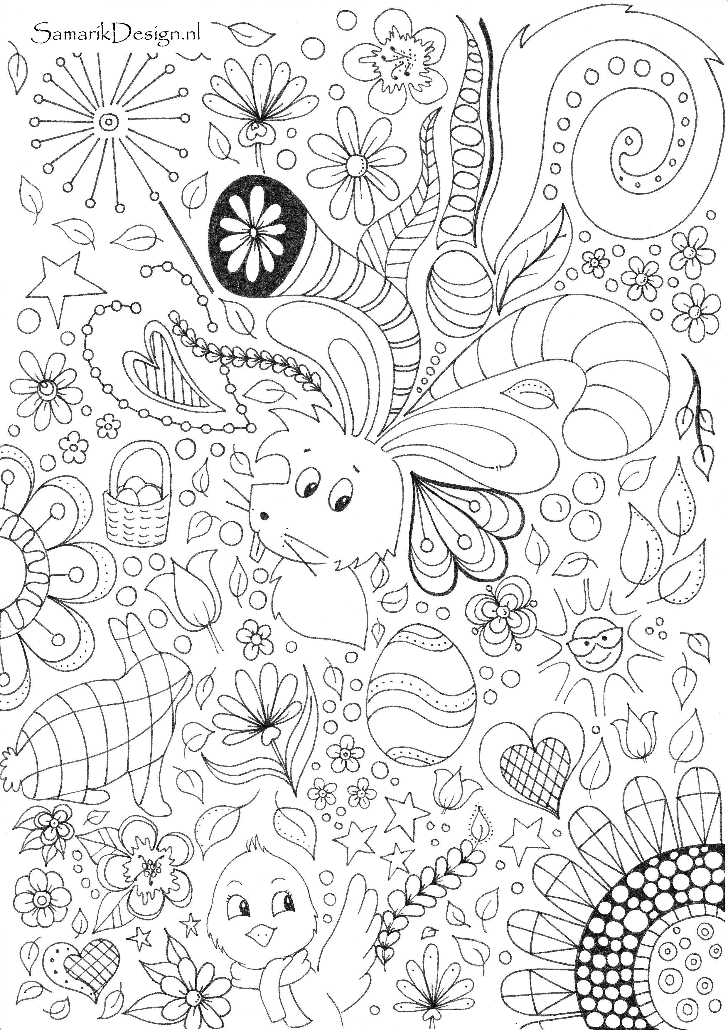 Kleurplaten Volwassenen Pasen.Pasen Easter Kleurplaten Volwassenen Pinterest Adult Coloring