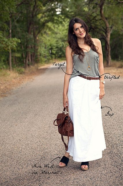 I love the long skirts! so comfy and easy