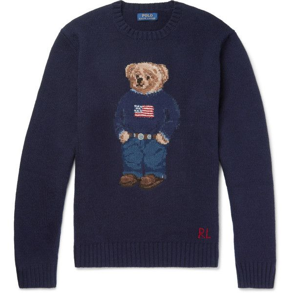 Sweater 395 Intarsia Lauren Polo Blend Wool Bear Ralph qfHaYxwZp