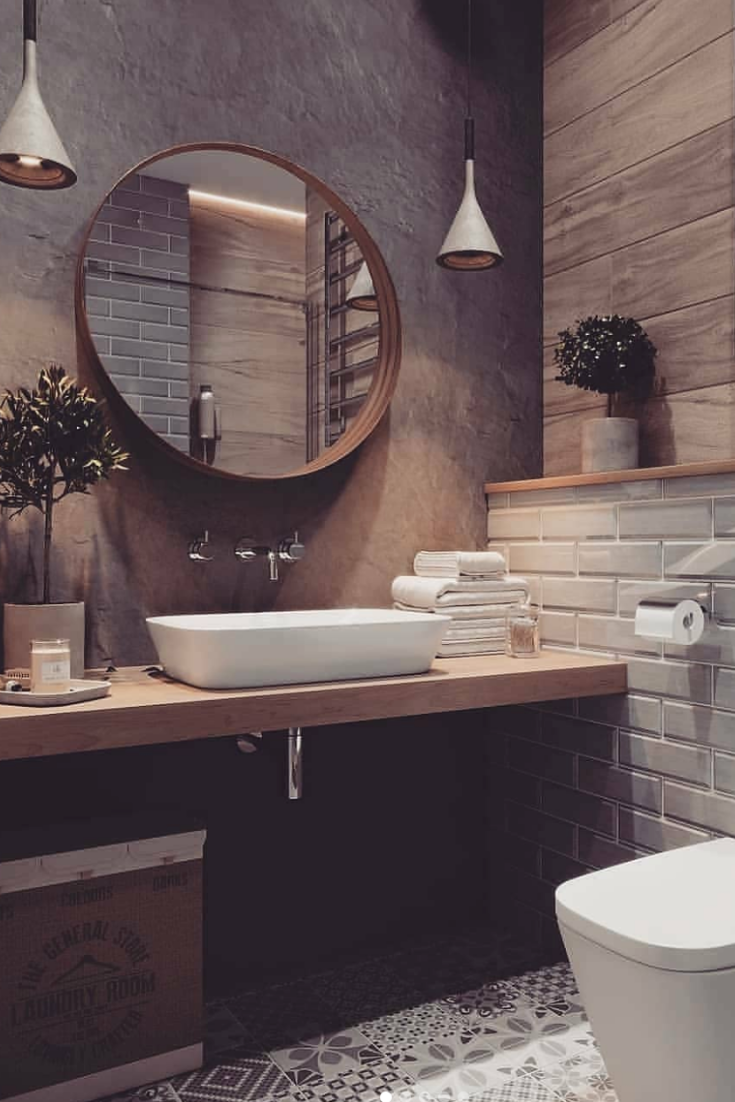 If You Want To Have An Industrial Bathroom The Key Factor Is To Take The Edge Of The Harsh Industr Stil Badezimmer Badezimmer Design Badezimmer Dekor