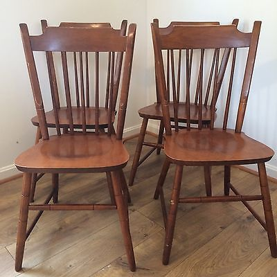 best service 3d26e 36460 4 tell city maple dining chairs vintage 8026 side chairs set ...