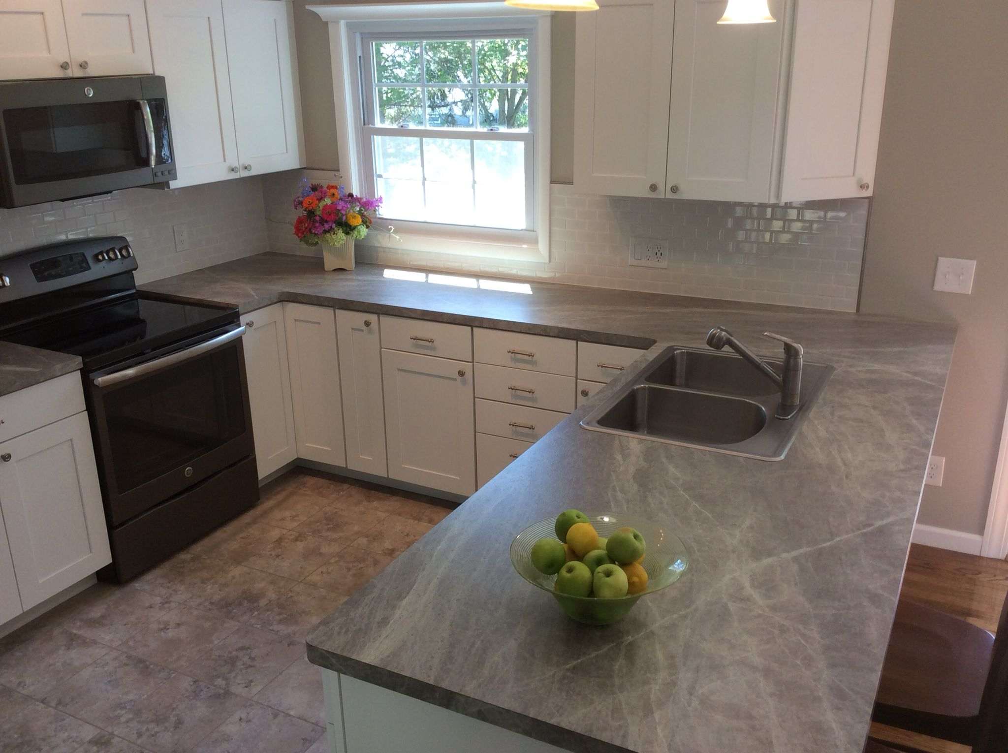 Laminate Kitchen Countertops White Cabinets With Glass Doors Sequoia Soapstone Formica Our Raised Ranch