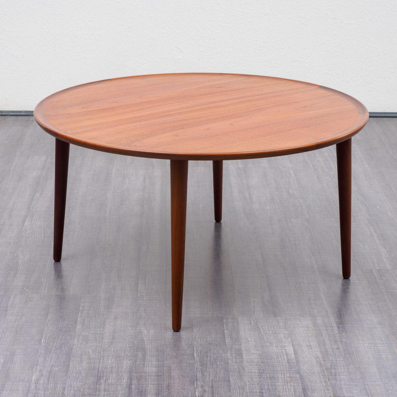 Round 10s Coffee Table Scandinavian Design Teak Scandinavian