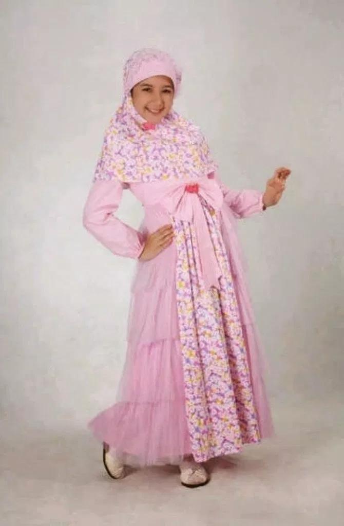 43 Model Baju Gamis Batik Terbaru 2018 Kombinasi Modern