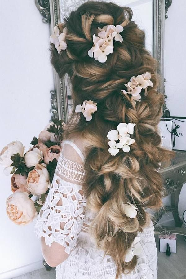 65 new romantic long bridal wedding hairstyles to try penteados 65 new romantic long bridal wedding hairstyles to try junglespirit Choice Image