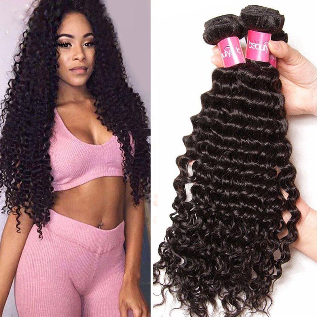 Sunber Hair Remy Brazilian Hair Deep Wave Virgin Human Hair