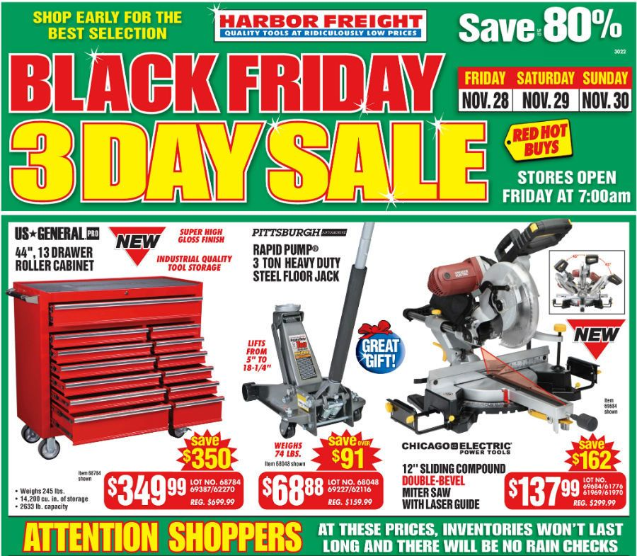 Harbor Freight Black Friday Flyer and Ad Scan 2014 Black