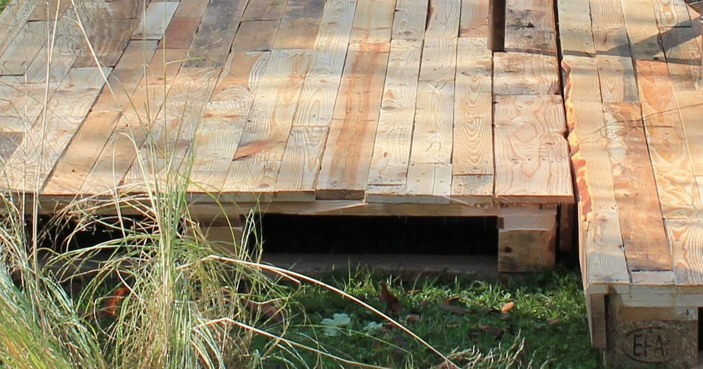 platelage bois terrasse palette