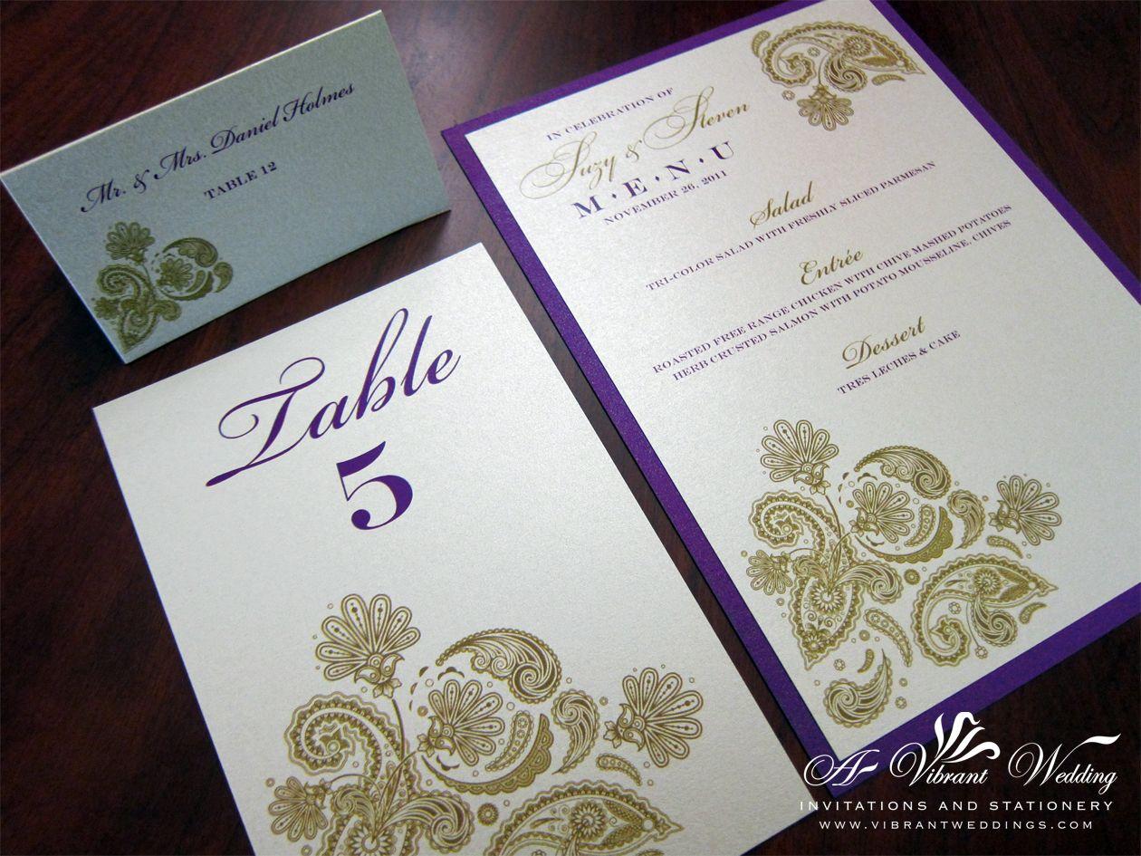 paisley theme wedding | Purple Wedding Invitation | A Vibrant ...