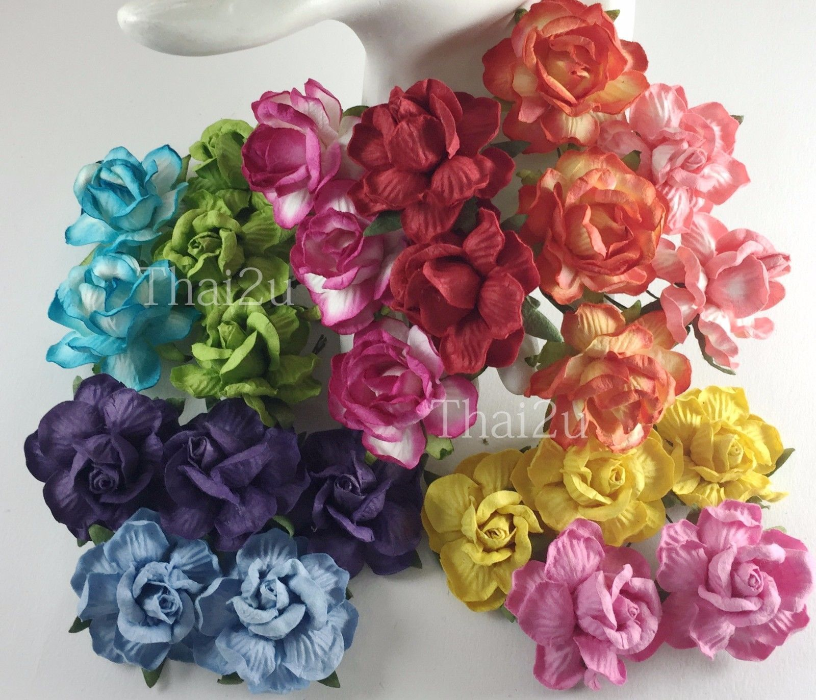 Wedding decorations paper flowers   Large Rainbow Paper Flowers Diy Wedding Decoration Craft