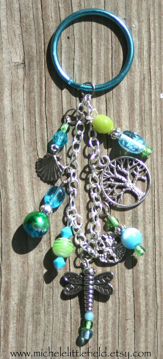 how to make a beaded dragonfly keychain