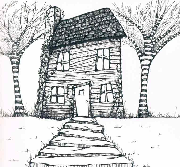 What a beautiful house to get colored in. Use some nice