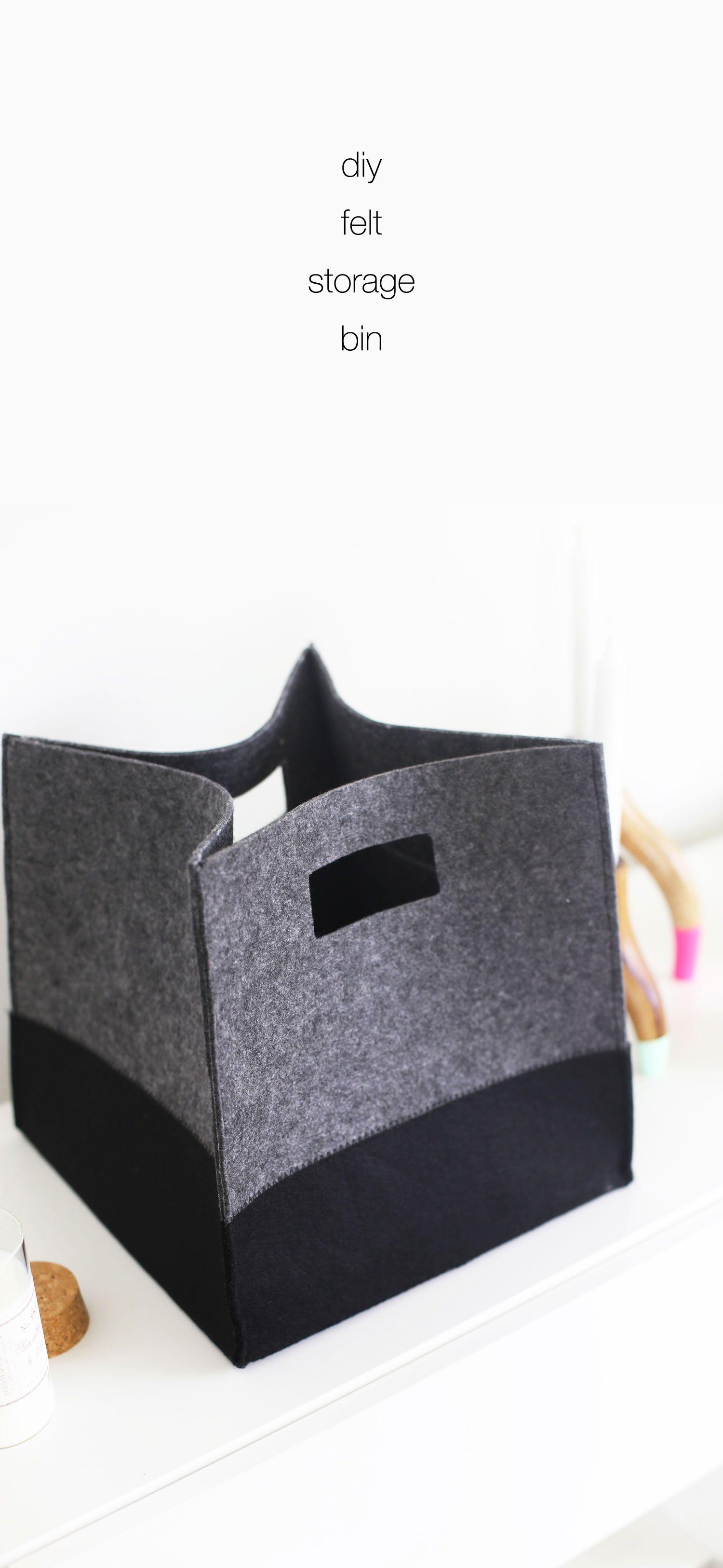 DIY felt storage bin ... a great DIY organization idea
