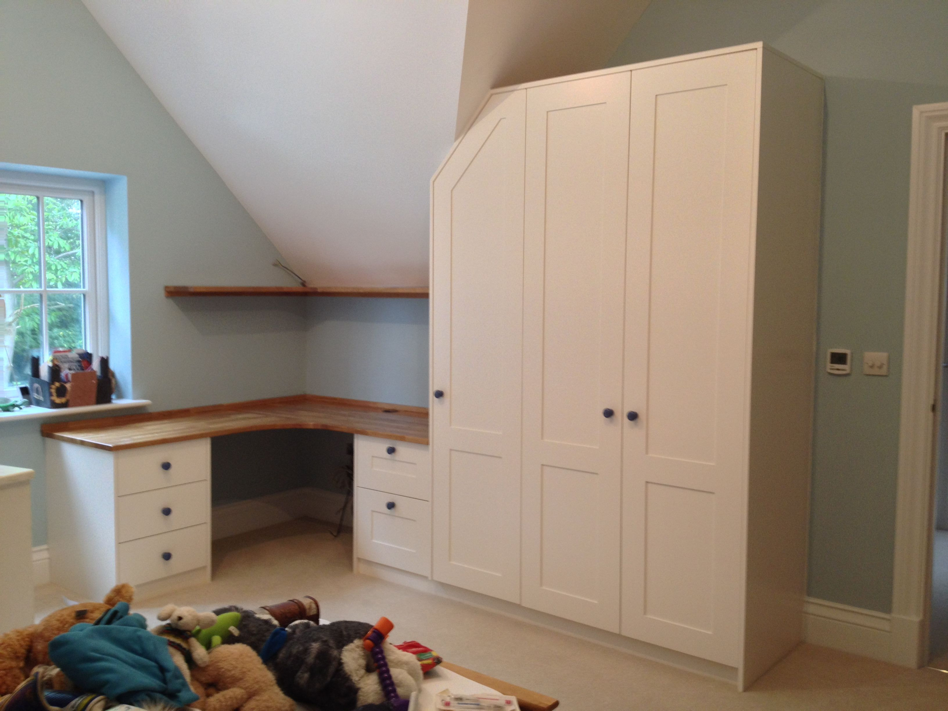 Bedroom Set With Custom Wardrobe Desk And Drawers Bespoke Design By Anthony Mullan Furniture