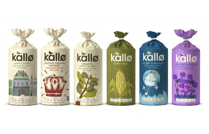 Designed by Big Fish, Kallo makes delicious, natural, healthy alternatives to things like cakes, biscuits, bread and even stock cubes.