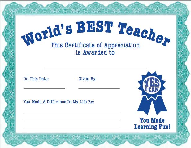 Teacher appreciation certificate from the pto today file exchange teacher appreciation for Certificate of appreciation for teachers