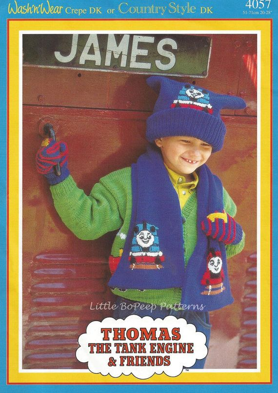 Thomas The Tank Engine Knitting Pattern Childs Hat By