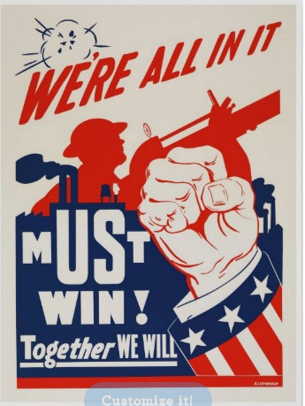 We Re All In It History Posters Wwii Posters Wwii Propaganda