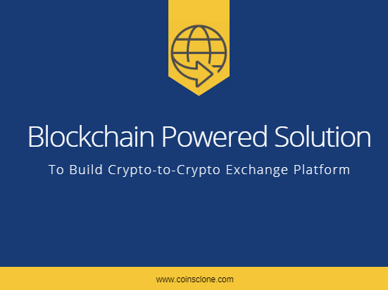 crypto-to-crypto-exchange platform