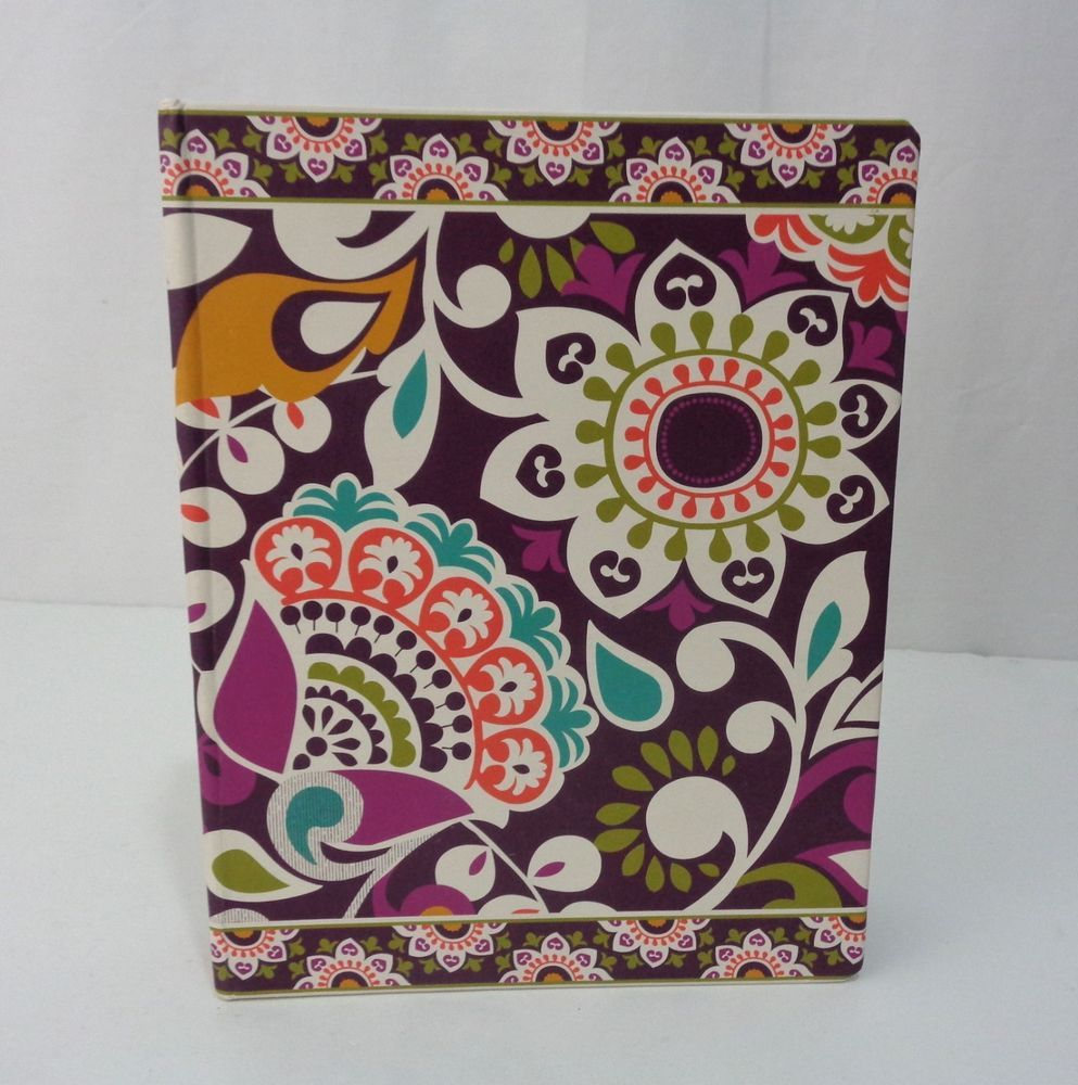 Vera Bradley Plum Crazy 3 Ring Binder Planner Address Book Office School Empty #verabradley