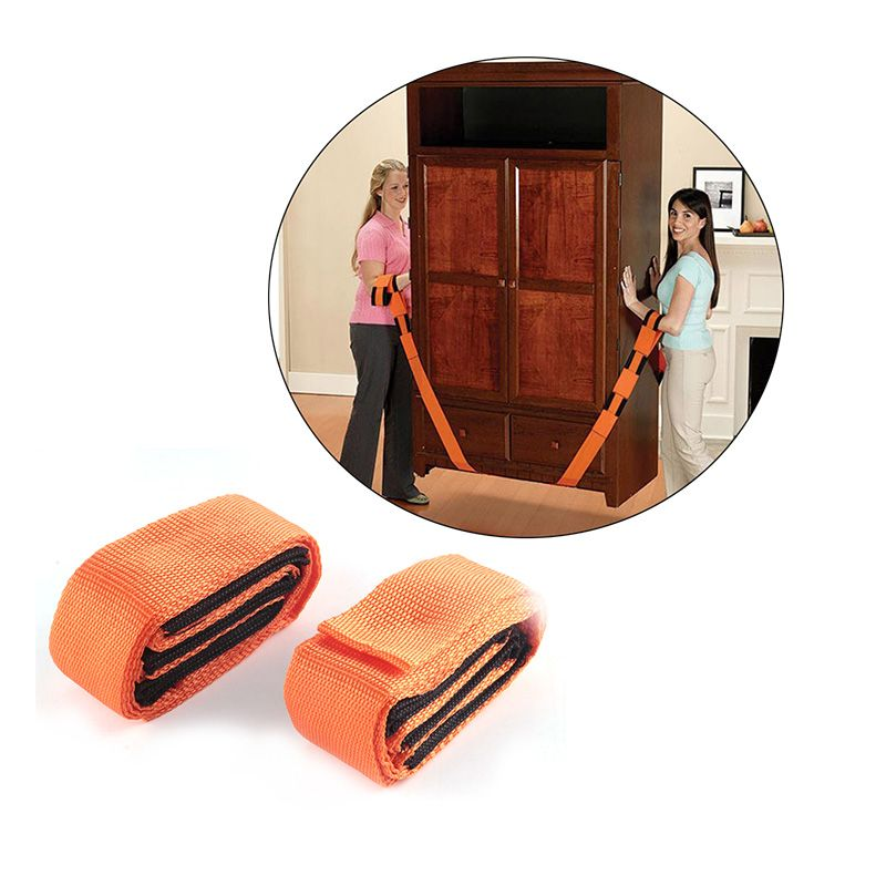 2pcs set house heavy object move lifting moving strap furniture